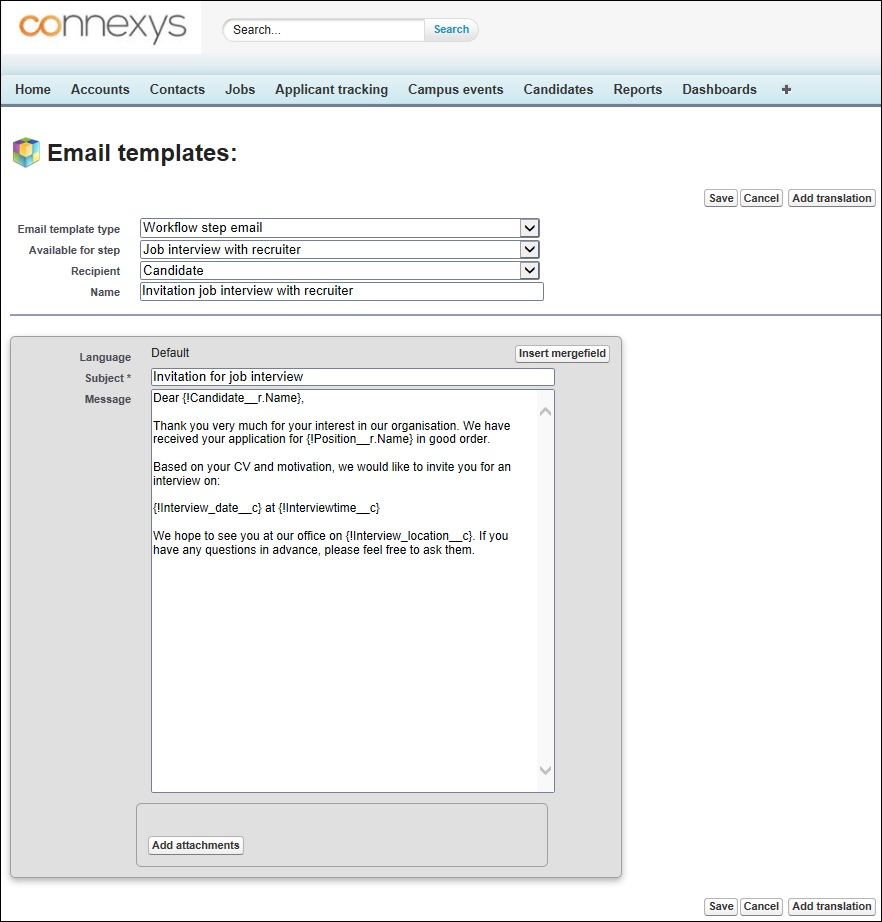 Create different email templates connexys help optional 1 translation pronofoot35fo Images
