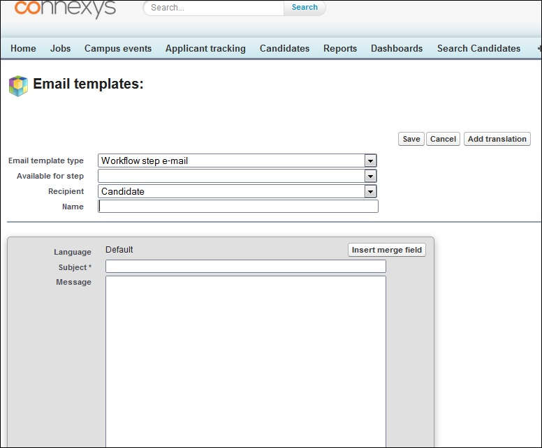 Create different Email templates \u2013 Connexys Help