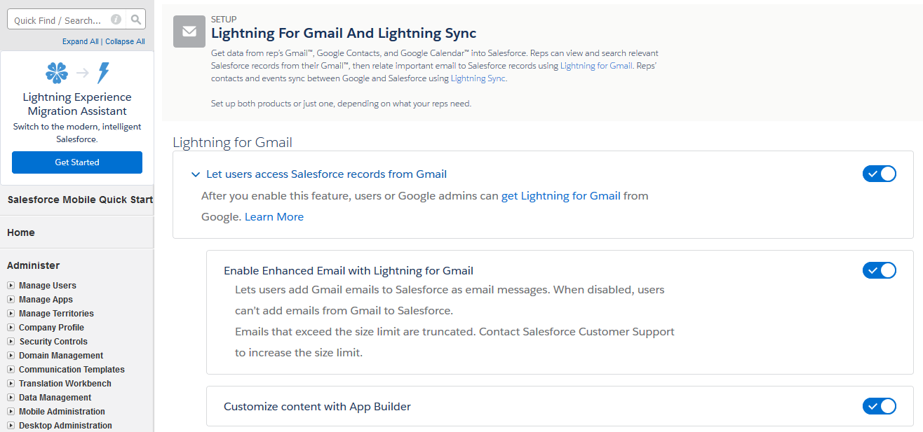 Lightning For Gmail Connexys Help