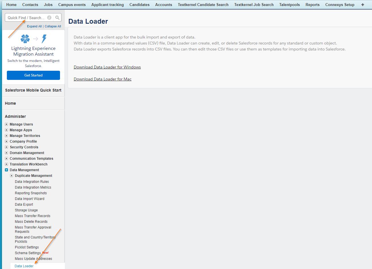 download apex data loader for windows